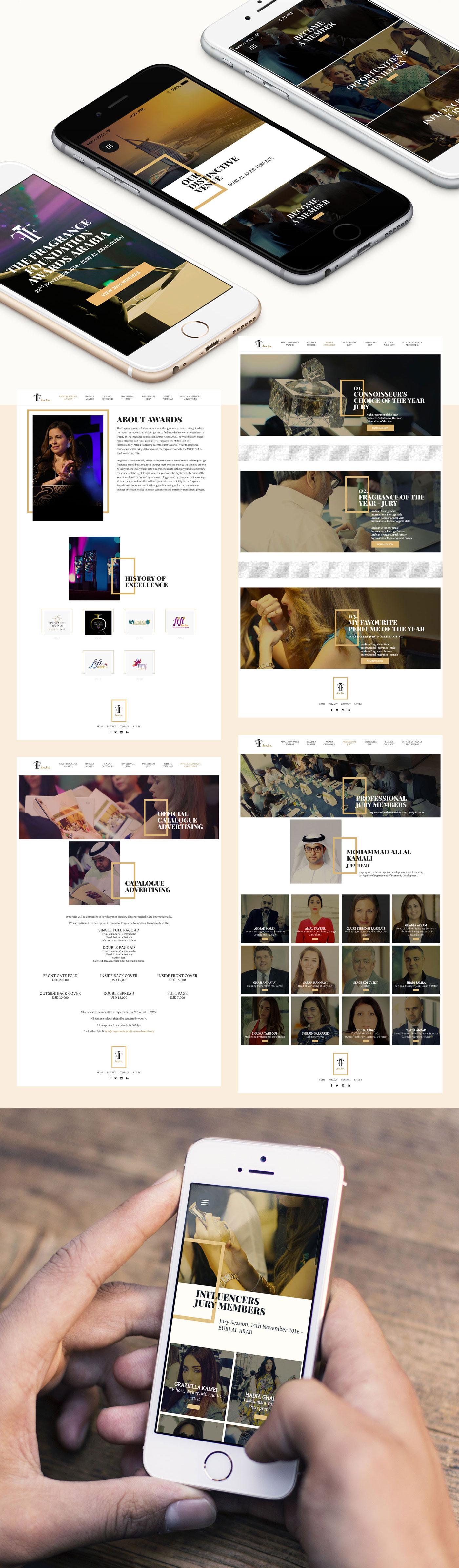 Website & Graphic Design for Fragrance Foundation Awards